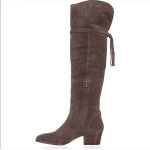 Frye Clara Over-The-Knee Tassel Suede Boots